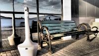 Паркова пейка Осло и пепелник от композит